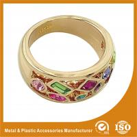 18K Gold Plated Fashion Jewelry Rings Ruby Setting Wedding Finger Ring
