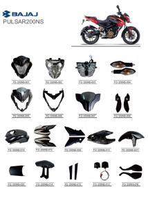 China PULSAR200NS BAJAJ Motorcycle Spare Parts ABS Plastic PC Material Full Of Accessories on sale