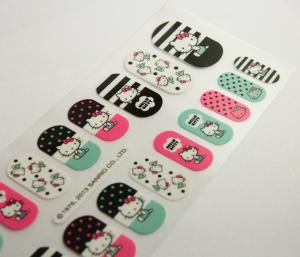 China Hello kitty pattern Health Nail Stickers , Full Cover nail strips on sale