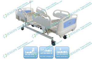 China Cold rolled Steel Electric Nursing Bed with Four Wheels and three Motors on sale
