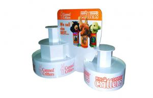 China Custom Corrugated Cardboard Displays Round , Store Canning Food Display Stands on sale