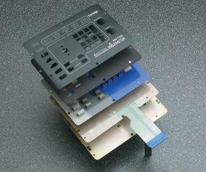 China Wavelength Meter Membrane Keypad with Rubber Keypad   LTMS009 on sale