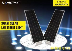 China High Brightness Park Solar Powered LED Street Lights With 5 - 6 M Pole 20 W on sale