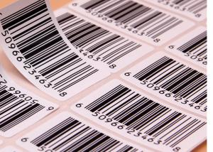 China Supermarket Barcode Stickers Roll / Thermal Print Sticker Labels Die Cut Shape on sale