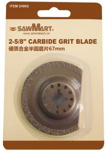 China 2-5/8 in. Carbide Grit Oscillating  Multi-Tool Half-Moon Blade on sale