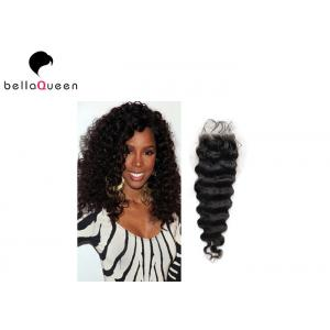 China Unprocessed Curly Brazilian Lace Closure No Shedding And No Tangle on sale