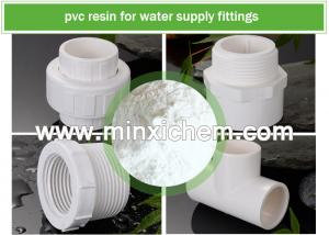 China ISO Factory White Color Powder PVC resin SG3 SG5 SG7 SG8 with K value K65 K66 K67 for PVC water supply fittings on sale