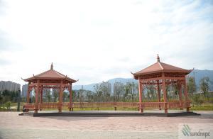 China WPC wood plastic composite pavilion, wpc gazebo on sale