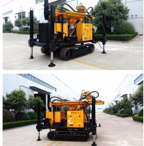China 200m Depth Crawler Track Water Well Drilling Rig With Air Compressor on sale