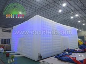 China Giant Led Lighting Inflatable Cube Tent Outdoor Inflatable Party Tent on sale