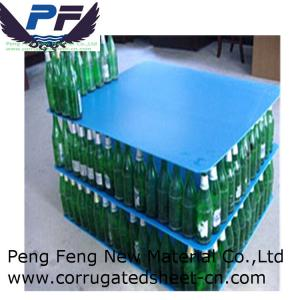 China 2-12 mm blue colour Polypropylene Plastic Corrugated Layer Pad for bottles industry on sale