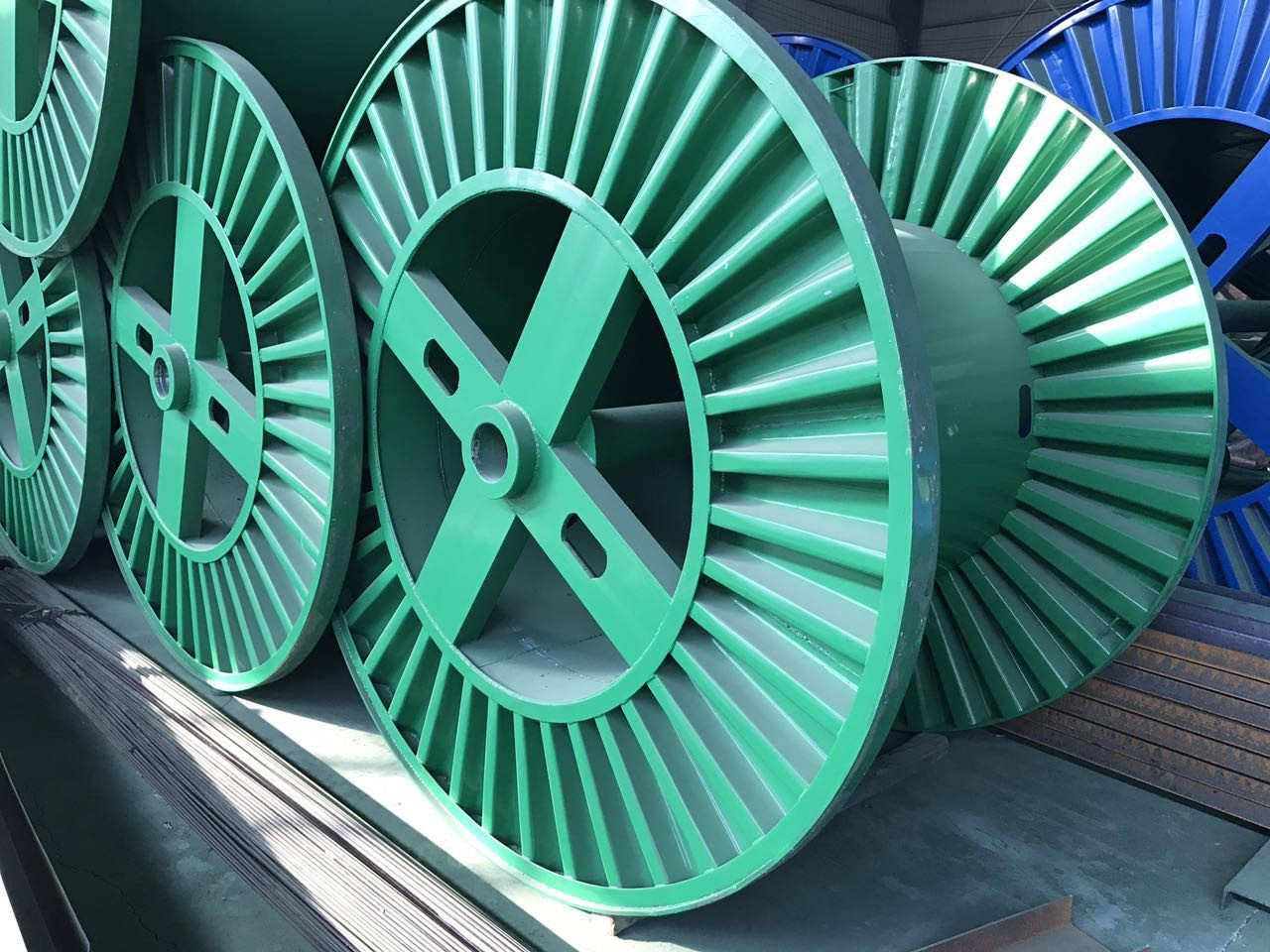 Punching Steel Reel Cable Drum Galvanized Steel Reel Pn100