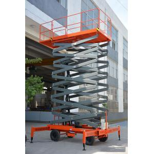 China Mobile Hydraulic Lift Platform , DTC Controller Scissor Aerial Work Platform on sale