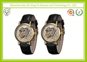 China Vogue Genuine Mechanical Wrist Watch Leather Strap With Custom Logo on sale