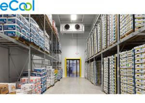 China 0 C ~ 5 C PUR Board Insulated Cold Room Warehouse For Packed Diary Products on sale