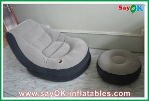 China Portable Custom Inflatable Products , Air Pump Planetarium Dome PVC Inflatable Chair on sale