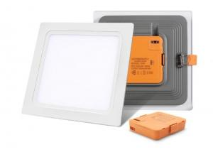 China 24 W Square LED Slim Panel Light Aluminum 2400LM 3000K Isolated IC Constant Driver supplier
