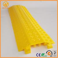 China Yellow One Meter PVC Light Duty Cable Protector Ramp Plastic 3 Channels 2.5kg on sale