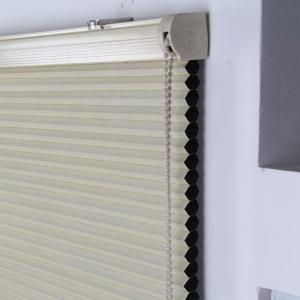 China 25mm honeycomb blinds blackout fabric cellular shade manual chain control on sale