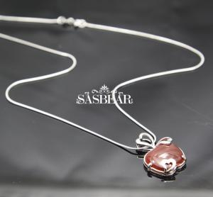 China White Gold Silver 18 Inch Gemstone Sasbear 925 Sterling Silver Value on sale