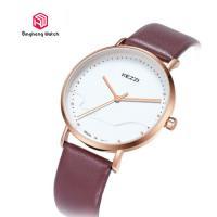 Ladies Leather Causal Quartz Hand Watch Waterproof 20cm Band Length