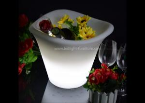 China Wedding Decoration Light Up LED Ice Bucket 3 Lips With Battery Operated on sale