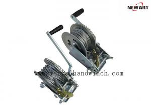 China 10m Cable Manual Hand Winch 1000lbs A3 Steel Zinc Plated Mini Marine Trailer Winch on sale