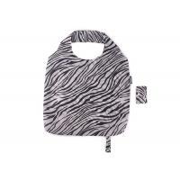 Black And White Zebra Stripes Folding Tote Bag , Large Capacity Eco Shopping Bag