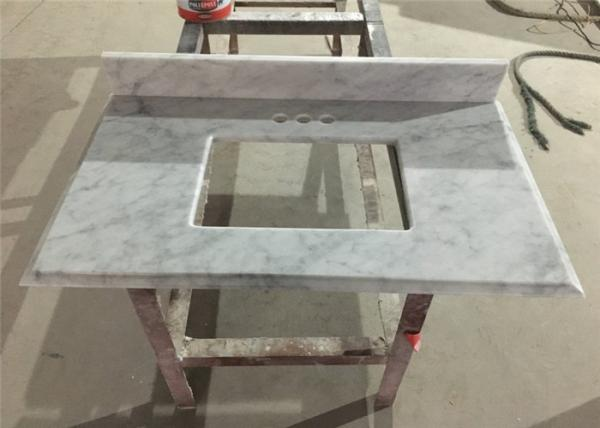 Phenomenal Bianco Carrara Prefab Bathroom Countertops With Sink Home Remodeling Inspirations Genioncuboardxyz