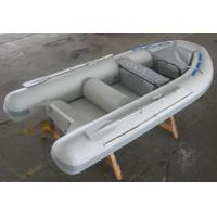 Gray / Red 5 Person Inflatable Boat Semi FRP Boats With YAMAHA Motor