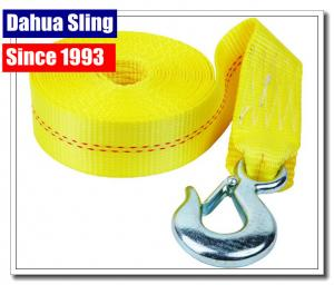 China Heavy Duty Boat Winch Strap With Safety Hook , Nylon Winch Strap Replacement on sale
