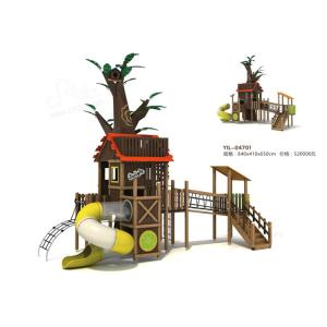 China Large Children's Tree House Wooden Outdoor Playset African Imported Rose Wood Material on sale