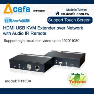 China HDMI USB KVM Extender over Network with Audio IR Remote on sale