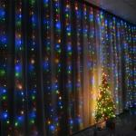 IP44 3*3M 300 LED Copper Wire Curtain Light 5V USB With 8 Mode