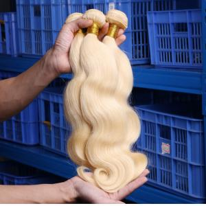 China Malaysian Hair Human Hair Extensions Remy Hair Weaving 613 Blonde Bundles on sale