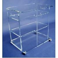 China clear plexiglass lucite bar cart,acrylic food trolley for dining room on sale