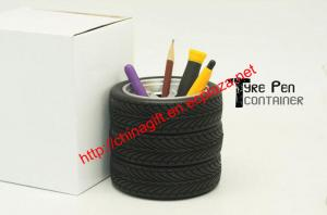 China Car tyre/car tire shape pen holder on sale