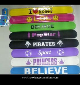 China Custom multicolor silicon crazy slap bands /slap bracelets/slap wristband on sale