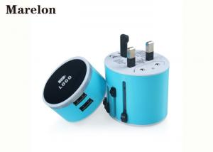 China Multi Plug Travel Power Adapter / Mobile Phone Accessories 2 USB Ports on sale