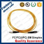 fc/upc optic fiber patch cords for structure cabling to patch panel ST SC FC LC black connectors single mode simplex