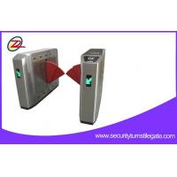 China Biometric Retractable Flap Barrier Gate Double Swing Arm Turnstile 50W Power on sale