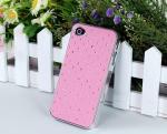 AppleのiPhone 4,4G、4SのためのBlingのラインストーンのアルミニウム箱;堅い保護贅沢な場合カバー