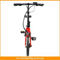 Red White Electric Folding Bike Electric Boost Bicycle 250w Brushless Motor