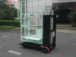 China Mast Type Semi - Electric Aerial Order Picker Manual Push Around For One Person on sale