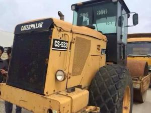 China Used caterpillar Compactor CS533E padfoot sheepfoot road roller on sale