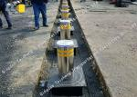 High Visible Electric Rising Bollards Hot Dipped Galvanized Surface Treatment