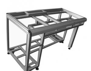 China Shelves accessories t - slot table Industrial Aluminum Profiles with 20*20 anodized aluminum profiles on sale