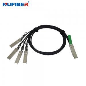 China High Speed 40Gb/s QSFP+ to 4xSFP+ Passive Direct Attach Copper cable 1~15M on sale