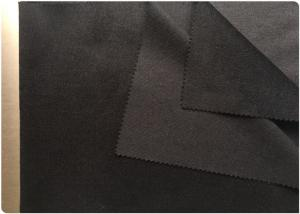 China Striped Wool Fabric With Unclear Black Pinstripe , Cashmere Coating Fabric 30% Wool on sale