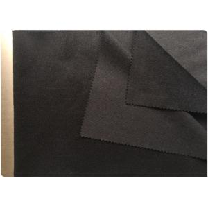 China Striped Wool Fabric With Unclear Black Pinstripe , Cashmere Coating Fabric30% Wool on sale